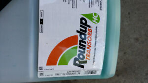 2 litres of roundup weed killer remaining. Eliminates all