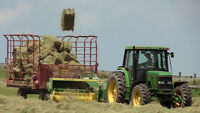 Part time farm help wanted baling hay