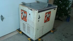antique 7up pop machine/cooler