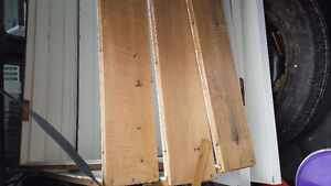 4 Mahogany doors with frames and lever handles