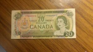 A 1969s , $20 bill