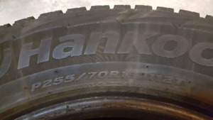 4 Hankook winter studded tires 18""