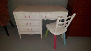 Solid wood child's desk and chair