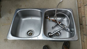 Kitchen Sink (double) top mount and Faucet