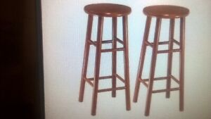 """Winsome 30"""" Beveled Seat Stools, Cherry, 2/Pack"""