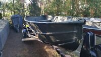 14 Foot Fishing Boat With Trailer - Great Condition - No Damage