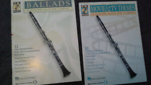2 play along solos for clarinet books. music & CD to play along