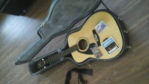 Yamaha LEFT handed guitar with hard case