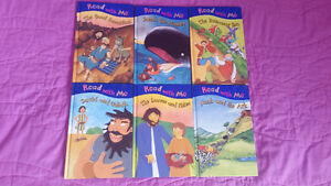 "6 Hardcover ""Read to Me"" Children's Bible Story Books"