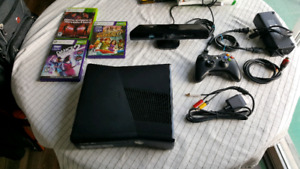 Xbox 360 with kinect and two ddr mats
