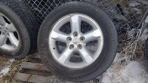 275/60R20 Wrangler HP on Dodge Alloy Rims - Set