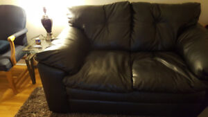 Leather love seat $270 OBO