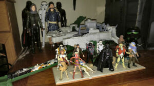 "Lot  Star Wars 12"" and 4"" Action Figures and other collectibles"