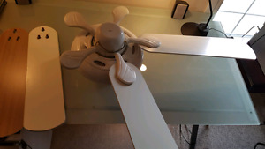 Ceiling fan - optional wood or white finish