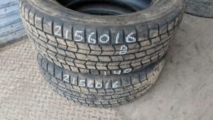Pair of 2 Dunlop Graspic DS3 215/60R16 WINTER tires (70% tread l
