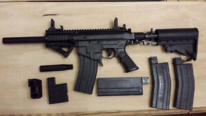 Milsig M17 with monolith shroud, air tank and vest, zeta adapter