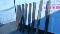 8 ROUND FENCING POSTS ($10 EA OR $50 FOR ALL OBO)