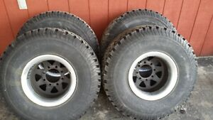 33 12.50 15LT BFGoodrich All-Terrain tires on chev 8 bolt wheels