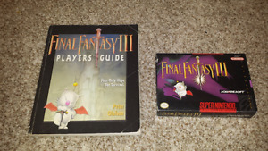 Selling Complete Final Fantasy 3 and Official Players Guide!
