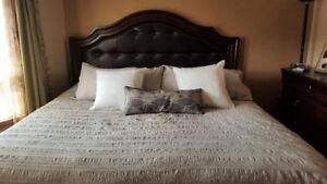 King Bedroom Set - Merlot