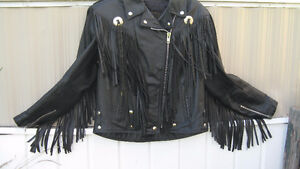 brand new fringe leather jacket