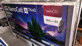 New LG nano cell ultra 4k TV 65inch one year warranty +receipt