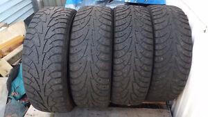 4 Hankook Studded Winter Tires with Rims - 215/55/18 $ 120.00