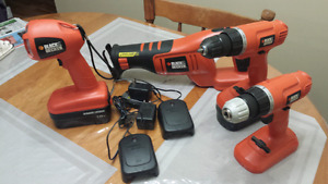 18 volt black & decker set