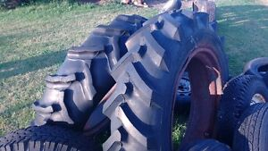 (2) GOODYEAR CASE TRACTOR TIRES & RIMS