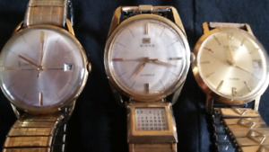 3 Vintage working automatic Watch's.