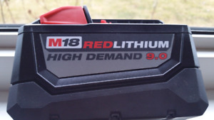 Milwaukee M18 Red Lithium  9.0 Battery for sale