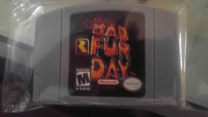MINT CONDITION CONKERS BAD FUR DAY N64!!!