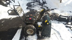 End of season sale, 4 snowblowers can be separated or as a lot.