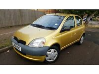 TOYOTA YARIS 1.0 GS 2001 FULL SERVICE HISTORY 13 STAMPS MOT LOW MILLAGE