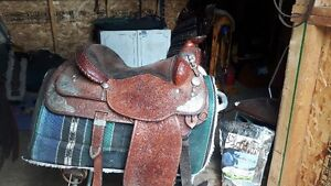 Silver Supreme show saddle with headstall and breastcollar