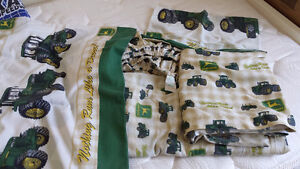 John Deere DOUBLE bed sheets and MORE