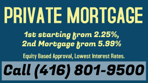 Private 2nd Mortgage from 5.99% only. Call/Text (416) 801-9500
