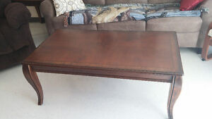 Expresso coffee table and end tables