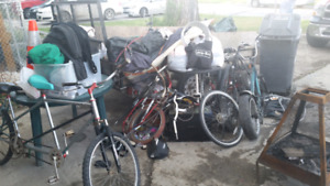 Free battery and junk pick up