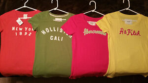 4 Abercrombie and Hollister Graphic Tees Medium Brand NEW!