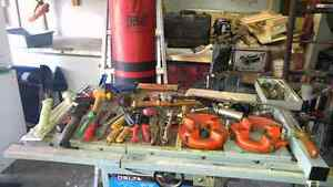 Many rare tools Including  punching bag and a commercial grinder