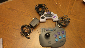 Super Nintendo controllers and power supply