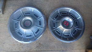 XR7 Hub Caps from 1972 Cougar (two )