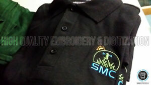 Custom Embroidery Services (t-shirts, polos, golf shirts)
