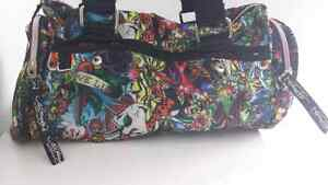 RARE small multi color prints ED HARDY duffle bag sac West Island Greater Montréal image 2