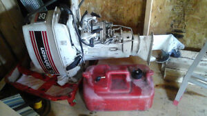 25 HP Outboard  motor (Johnson) runs well