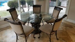 Kitchen Dinette Table Glass and Marble Dinette table