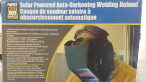 Solar powered auto-darkening Welding helmet -  great condition