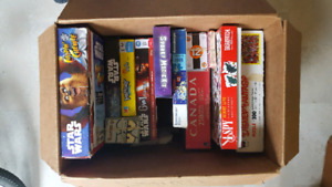 Box of games, puzzles