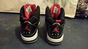 Air Jordan's 45 High Black/Red/White